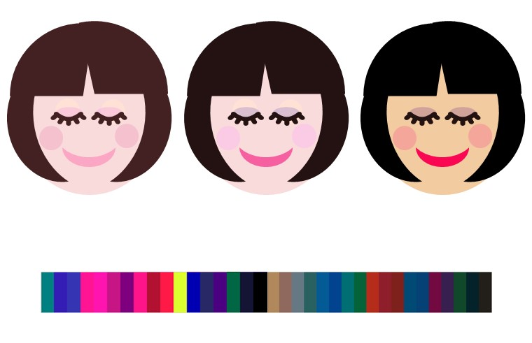 ウィンターのヘアメイクの色例2