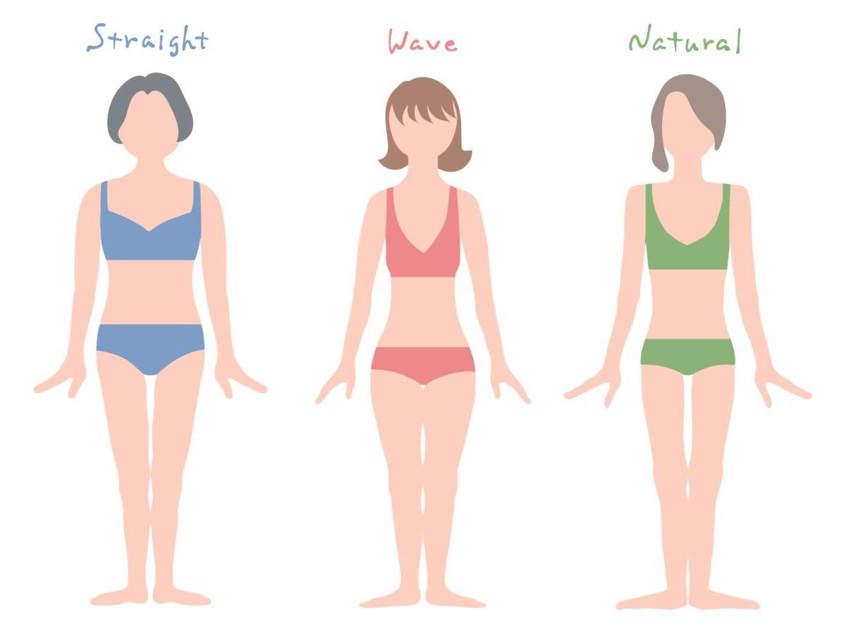 骨格診断タイプ別体型の特長