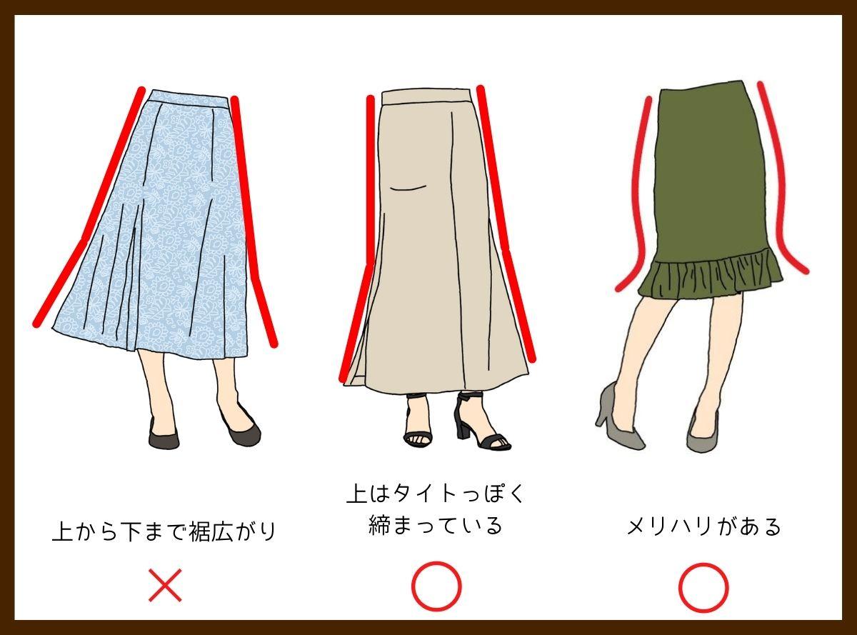 骨格ストレートに似合うマーメイドスカート